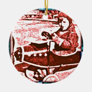 Toy Plane Ceramic Ornament