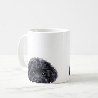 Toy poodle black coffee mug