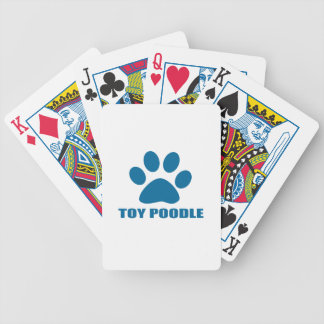 TOY POODLE DOG DESIGNS BICYCLE PLAYING CARDS