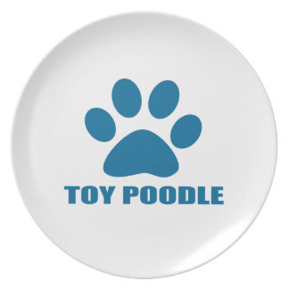 TOY POODLE DOG DESIGNS PLATE