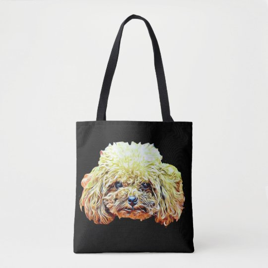 Toy Poodle dog tote bag