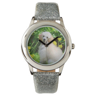 Toy Poodle dog wrist watch