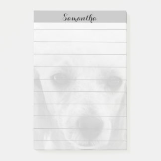 Toy Poodle puppy 4x6 Post it notes