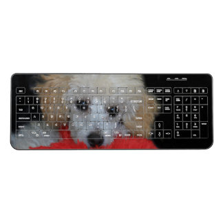Toy poodle puppy wireless computer keyboard
