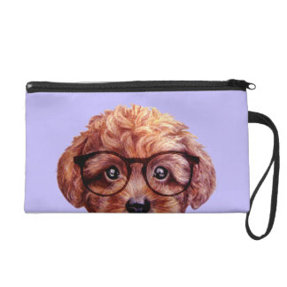 Toy poodle reddish brown wristlet