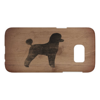 Toy Poodle Silhouette Rustic Samsung Galaxy S7 Case