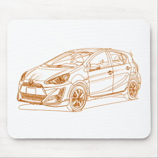 Toy Prius C 2017 Mouse Pad
