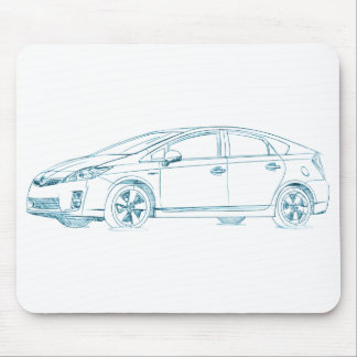 Toy Prius Gen3 2010+ Mouse Pad