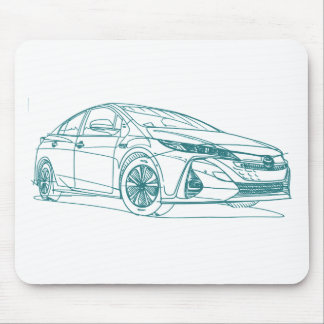 Toy Prius Prime 2017 Mouse Pad