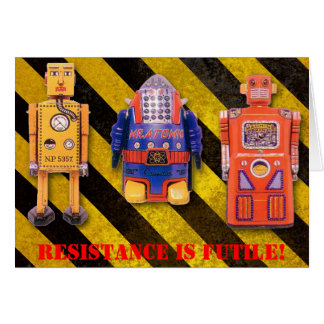 Toy Robot Custom Birthday Card