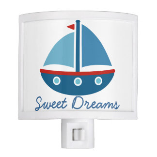 Toy sail boat cartoon night light for kids room