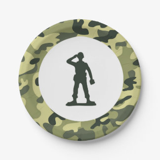 Toy Soldier Army Paper Dessert Plate 7 Inch Paper Plate