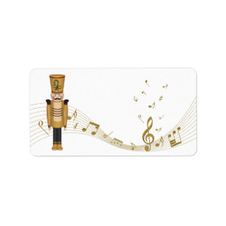 Toy Soldier Christmas Blank Address Labels