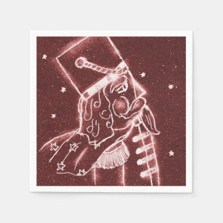 Toy Soldier in Cranberry Red Disposable Napkin