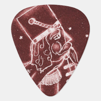 Toy Soldier in Cranberry Red Guitar Pick