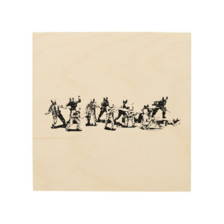 Toy Soldiers Wooden Wall Hangup Wood Print