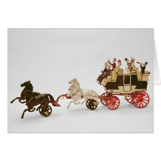 Toy stagecoach card