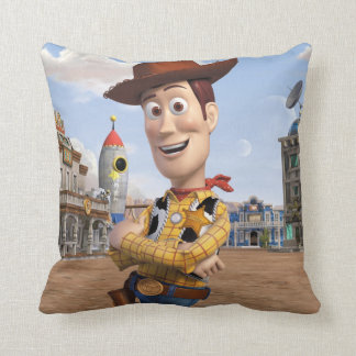 Toy Story 3 - Woody 3 Throw Pillow