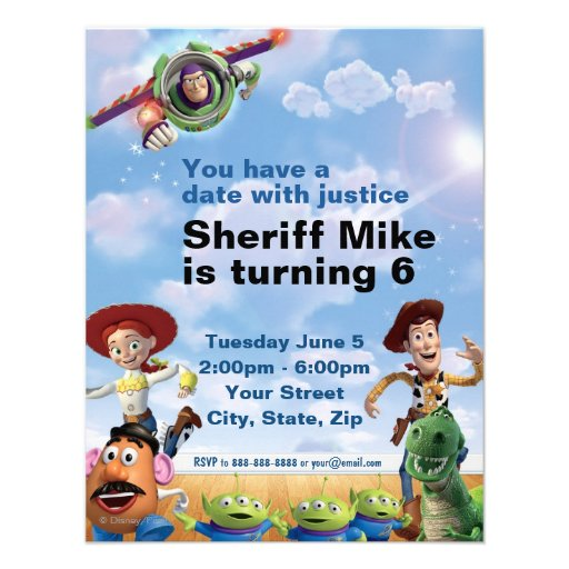Toy Story Birthday Invitation Personalized Announcement