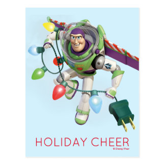 Toy Story | Buzz Lightyear Decorating Christmas Postcard