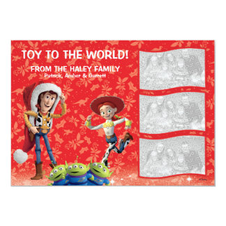 """Toy Story: Holiday Card 5"""" X 7"""" Invitation Card"""