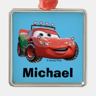 Toy Story | Lightning McQueen Looking Good Metal Ornament