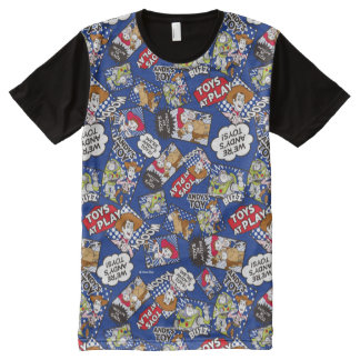 Toy Story | Toys at Play Comic Pattern All-Over-Print T-Shirt