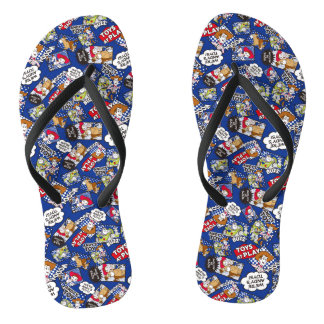 Toy Story | Toys at Play Comic Pattern Flip Flops
