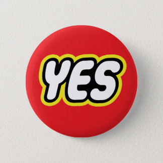 Toy style YES badge 2 Inch Round Button