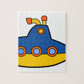 Toy Submarine Cartoon Jigsaw Puzzle