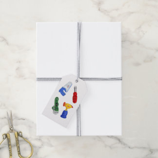 Toy tools illustration gift tags