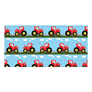 Toy tractor pattern picture card