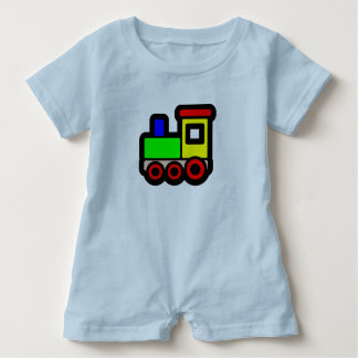 Toy Train Baby Romper