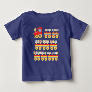 Toy Train Carrying Alphabet Blocks Baby T-Shirt
