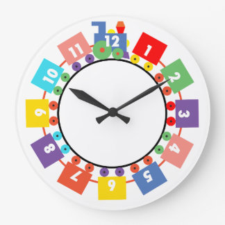 Toy Train Large Clock