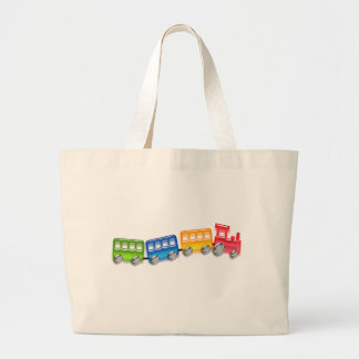 Toy Train Large Tote Bag