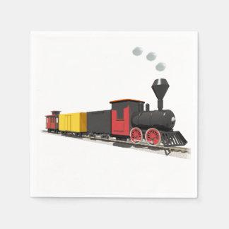Toy Train Paper Napkin