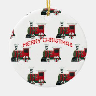 Toy Train Santa Christmas Ornament