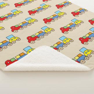 toy train set sherpa blanket