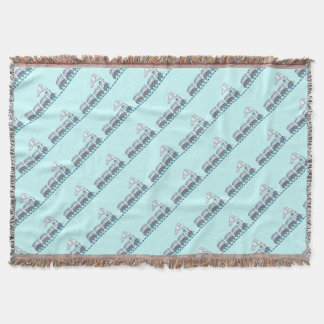 Toy Train Throw Blanket