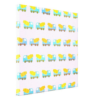 Toy truck pattern canvas print