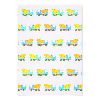 Toy truck pattern card