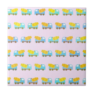 Toy truck pattern ceramic tile