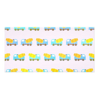 Toy truck pattern photo card