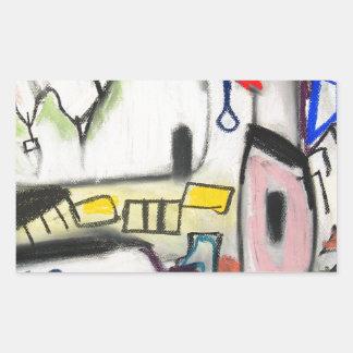 Toy Wars (primitive expressionism) Rectangular Stickers