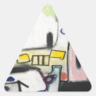 Toy Wars (primitive expressionism) Triangle Sticker