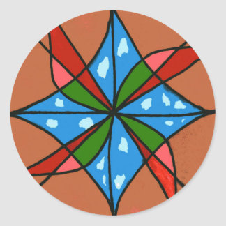"""""""Toy Windmill"""" Abstract Design Sticker"""