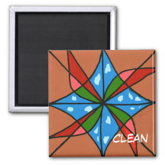 """""""Toy Windmill"""" Abstract  Dishwasher Status Magnet"""