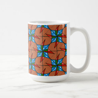 """Toy Windmill Tiled"" Abstract Design Mug"