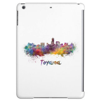 Toyama skyline in watercolor iPad air cases